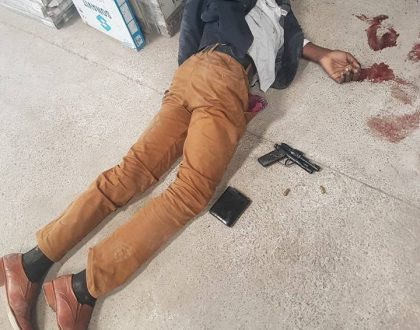 Shock as two thieves stealing carpet and baby bicycle are gunned down in early Friday morning heist (Photos)