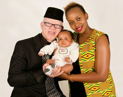 Isaac Mwaura and wife share first photos of their only son who survived January tragedy (Photos)