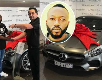 Ivan's successor who fought with Zari over property acquires a sleek Mercedes Benz AMG GT worth 16.2 million (Photos)