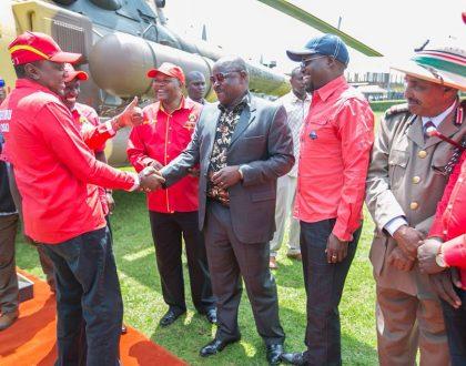 7 photos of Nasa co-principal Isaac Ruto cozying up to President Uhuru Kenyatta and DP Ruto