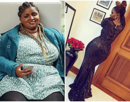 Anerlisa Muigai flaunts her curvy assets as she celebrates losing 58 kilos in two years (Photos)