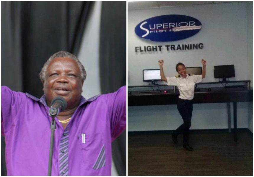 Francis Atwoli's pretty daughter graduates from aviation school in South Africa (Photos)