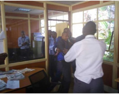 Raw video of Babu Owino and Jaguar fighting in parliament