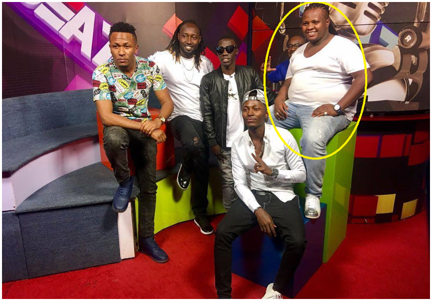 Netizens demand DK Kwenye Beat to hit the gym as his protruding belly embarrasses him during an interview in Uganda