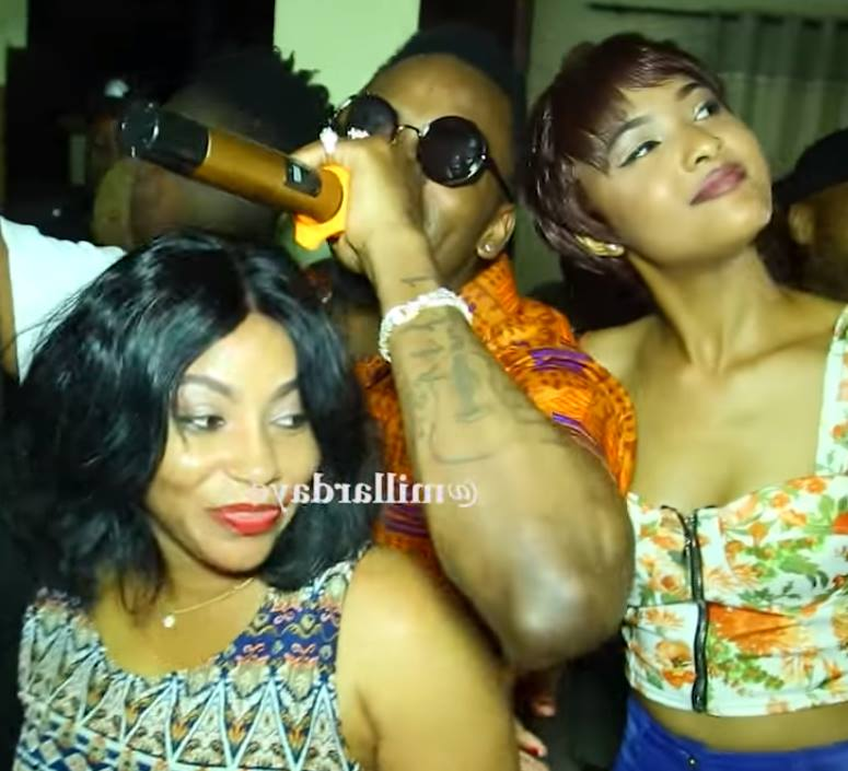 Diamond flanked by slay queens as he throws three pre-birthday parties at three different locations. Zari missed all of them