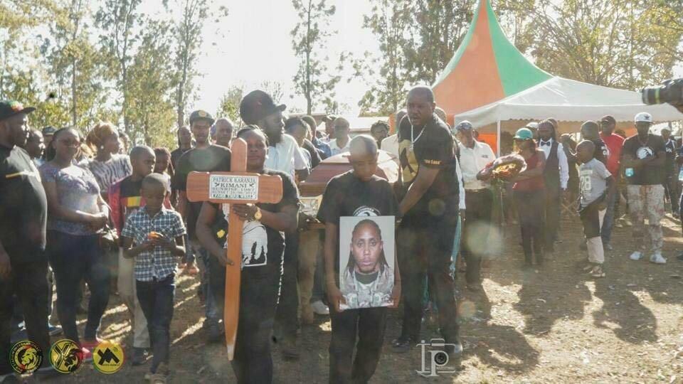 The late MC Patoka's funeral