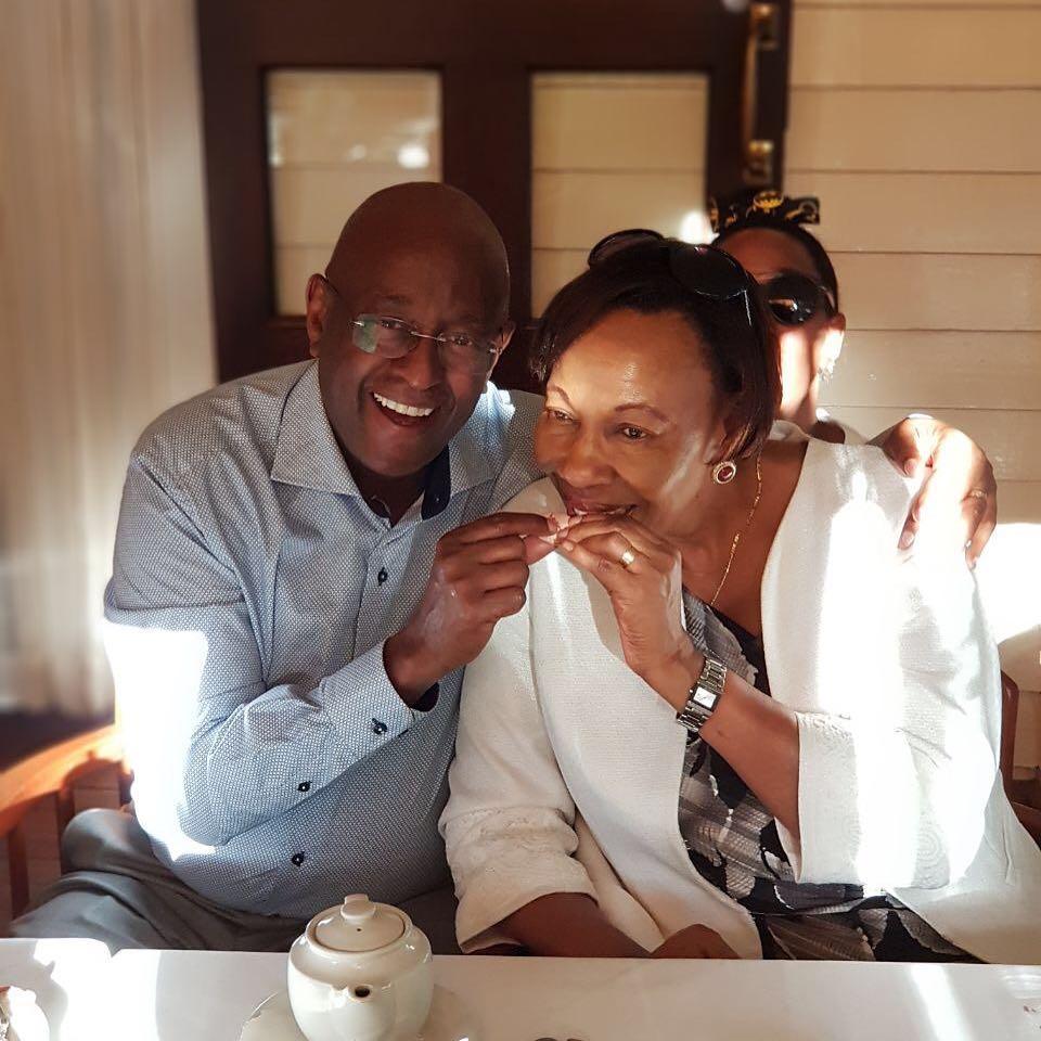 Janet Mbugua's parents