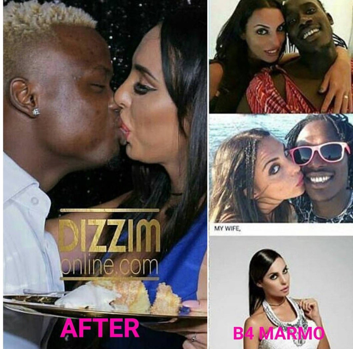 Harmonize's Mzungu with her ex husband