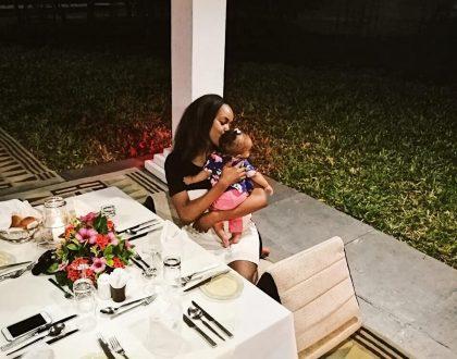 Sharon Mundia with her daughter