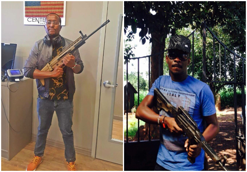 Who did it better showing off guns? 15 photos of Kenyan celebrities brandishing deadly assault rifles