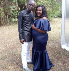 Njugush with his pregnant wife