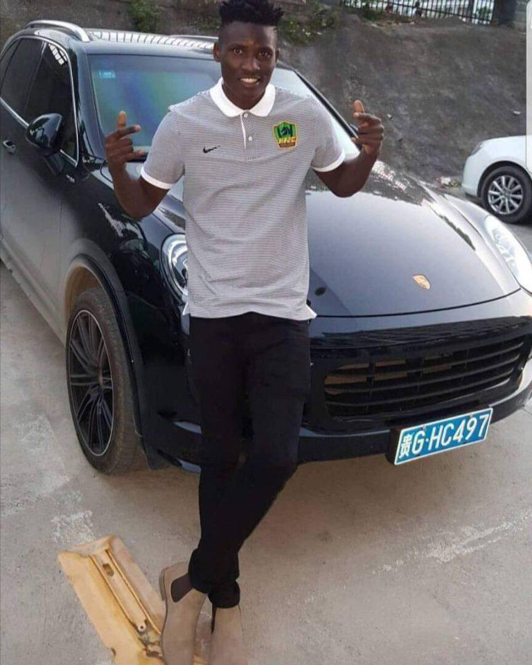 Michael Olunga's Porsche Cayenne