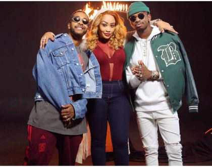 Diamond shoots video for his new collabo with American crooner Omarion