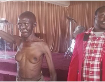 Pastor Kanyari once again sparks uproar as he attempts to heal a man who had grown breasts (Photos)