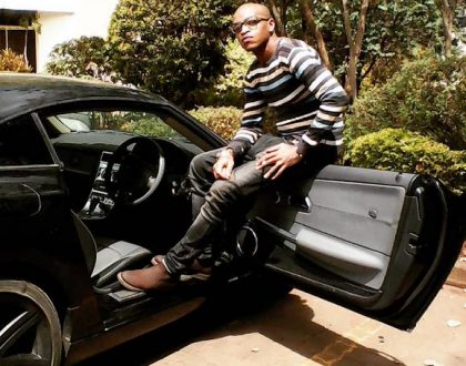 Bad parenting! Prezzo criticized after sharing a video of his 8 year old son driving (Video)