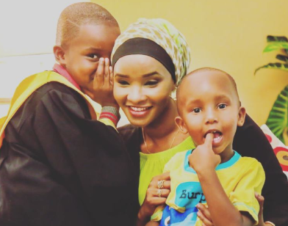 Lulu Hassan with her sons