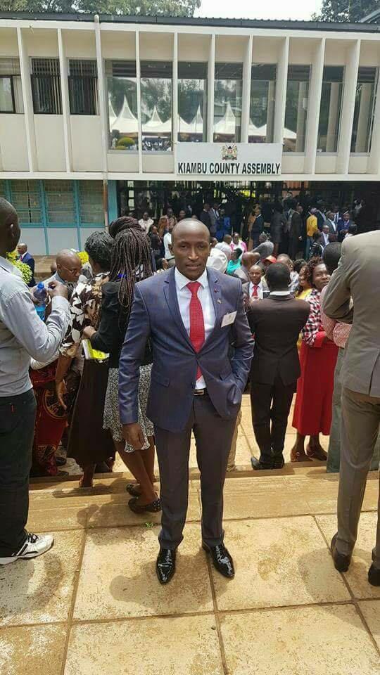 Kiambu Chief and Biashara ward MCA Elijah Njoroge