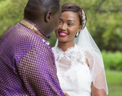 Willis Raburu with his bride