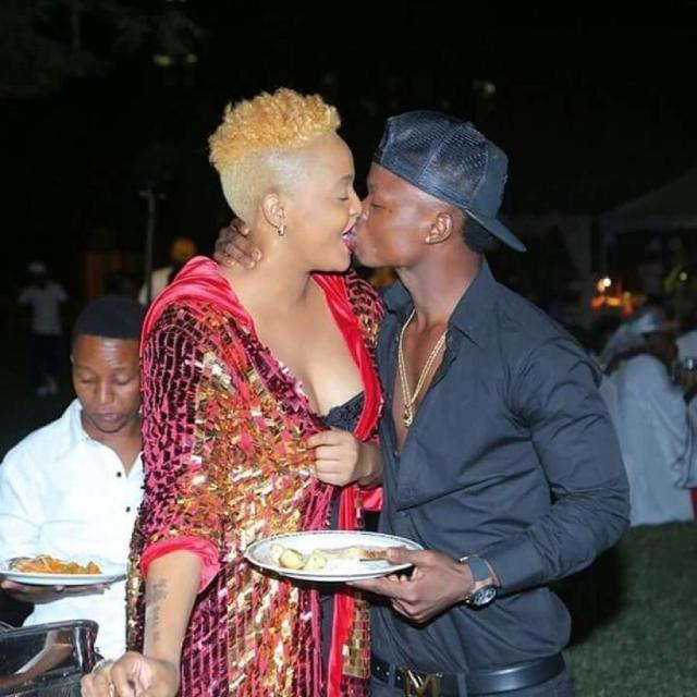 Wasafi Record's singer Harmonize photographed kissing his new girlfriend, but this is why fans think he is a horrible kisser (Photo)