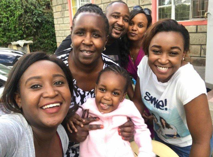 Betty Kyallo and family