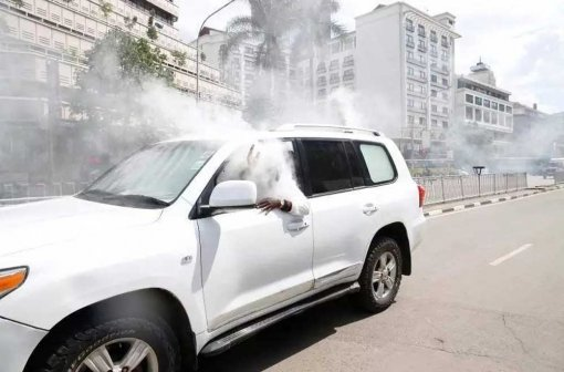 Police lobbed teargas canister into Saboti MP's SUV
