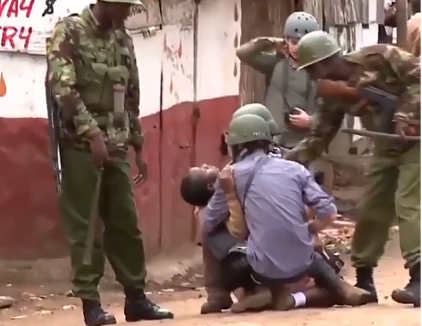 Pupil faints as police engage with protesters