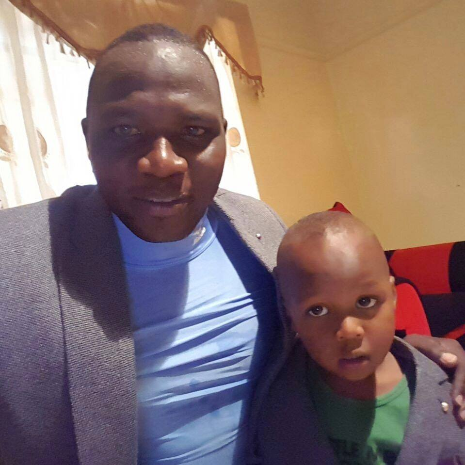 Yego with his son, Yego Junior
