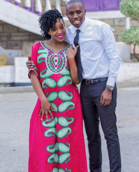 Bahati's manager with his wife