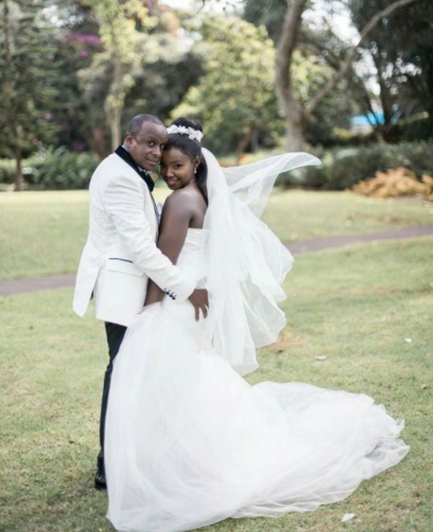 Simple Wedding Gowns In Kenya: Photos Of Catherine Kamau's Gorgeous Wedding Gown