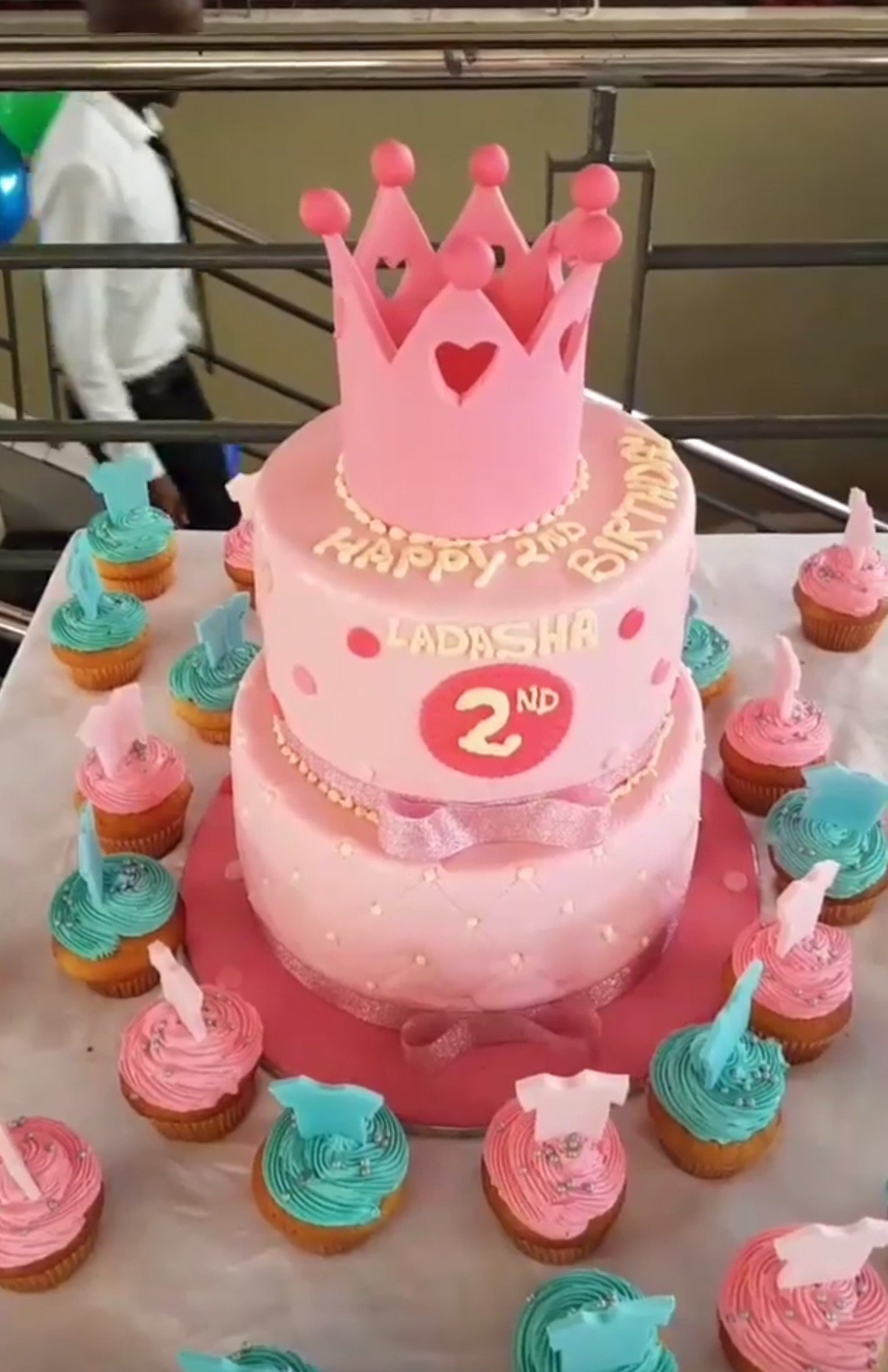 From A New Photo Making Rounds On Social Media Size 8 And Her Husband Are Said To Have Bought Huge Decorated Cake Mark Their Babys 2nd Birthday