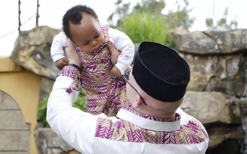 Adorable: After losing 2 of their triplets, Senator Isaac Mwaura and wife show off their cute son