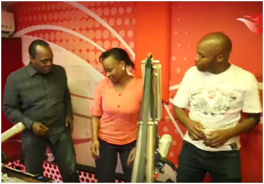 Kanze Dena leaves Jeff Koinange and Jalangogasping for breath as she crazily shakes what her mama gave her (Video)