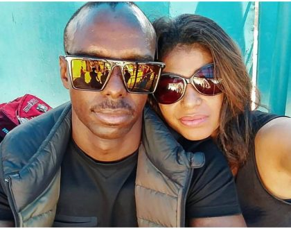 Julie Gichuru with her husband