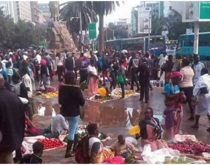 Sonko shares photos to prove he has dealt with hawkers who were invading the CBD (Photos)