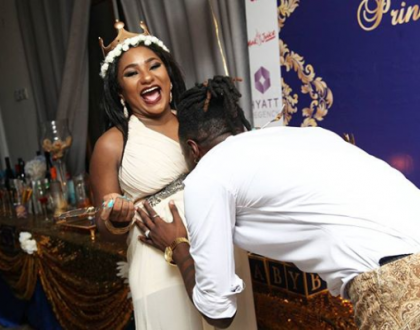 Adorable; 'Kamatia chini' hit makers finally unveil their son's face