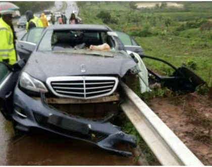 Photos of the freak accident that claimed the life of Nyeri governor Wahome Gakuru