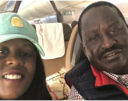 Raila finally touches down at JKIA as his supporters engage police in running battles (Photos)
