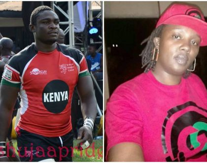 Lady who stabbed rugby player Mike Okombe to death surrenders herself to police (Photos)