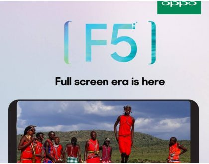 OPPO F5 which has Artificial Intelligence feature set to be launched in Kenya