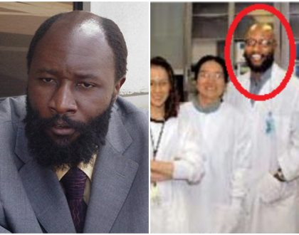 Photos of Prophet Owuor when he was still a molecular geneticist developing cancer drugs at University of Illinois