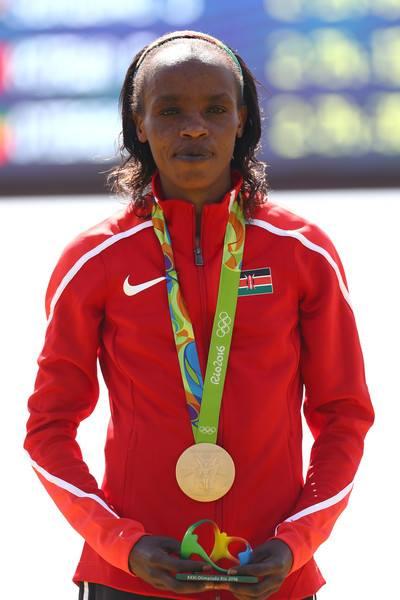 Kenyan athlete Jemima Sumsong