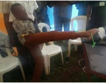 21-year-old disabled voter gets 3 million early Christmas present from president Uhuru (Photos)