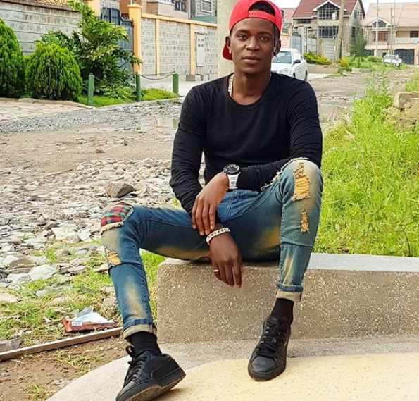 Sad: After struggling to give his dad a decent burial, Willy Paul visits his father's grave 7 years later