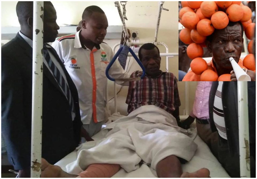 Baba Chungwa who was run over by a car during anti-IEBC demo abandoned at Kenyatta Hospital