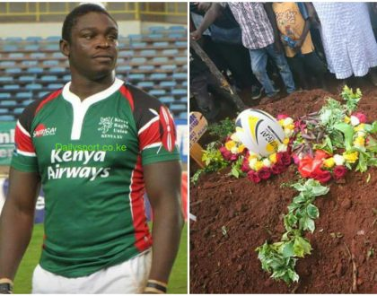 Slain rugby player Mike Okombe laid to rest in Kakamega (Photos)