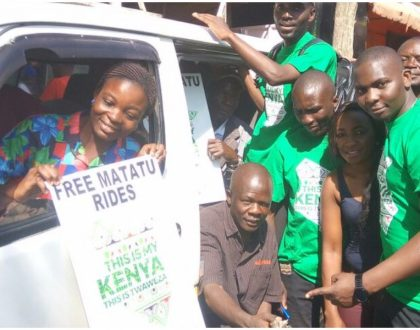 Safaricom invades towns across Kenya to reward ordinary Kenyans with free lunch, bus fare, airtime (Photos)