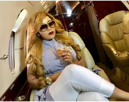 """I'm marrying my dreams"" Vera Sidika feels on top of the world as she flies on a private jet"