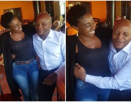 """I love you"" Jalango and Papa Shirandula's Wilbroda publicly caresses each other at a restaurant"