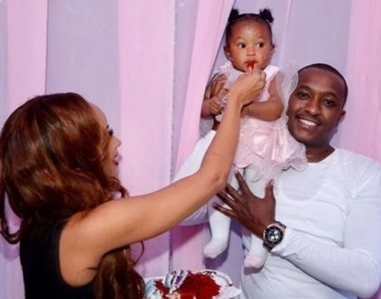 Steve Mbogo spoils his second born baby girl on her 1st birthday (photos)