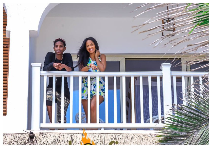 Eric Omondi reveals how he ended up erecting huge billboard at JKIA with his girlfriend's photo